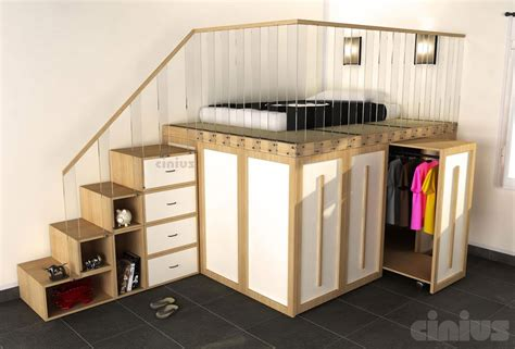 armadio letto letto impero con carrelli estraibili di cinius armadio e