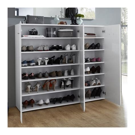 Meuble A Chaussure En by Grand Meuble A Chaussures Blanc Design 36 Paires Alama