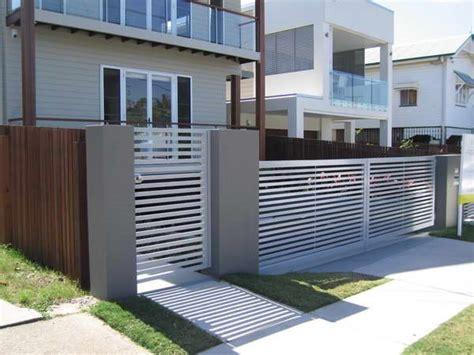 modern minimalist house fence design trend