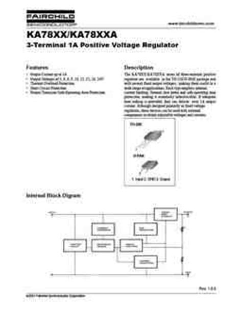 transistor ka7805 ka7805 pdf datasheet all transistors datasheet power mosfet igbt ic triacs database