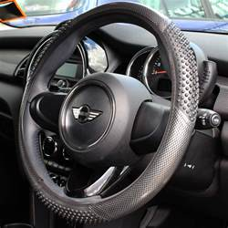 Steering Wheel Shakes Bumps Carbon Look Massaging Car Steering Wheel Cover Glove