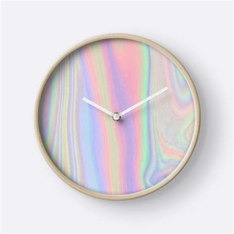 amazing clocks quot amazing cute holographic tumblr print quot clocks by