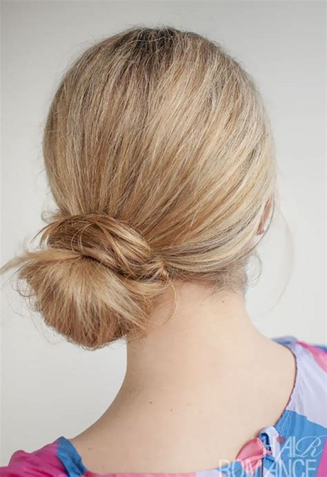 easy cute bun hairstyle popular haircuts