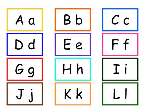 Letter Cards Teachers R Us Password With Alphabet Number Color And High Frequency Word Cards