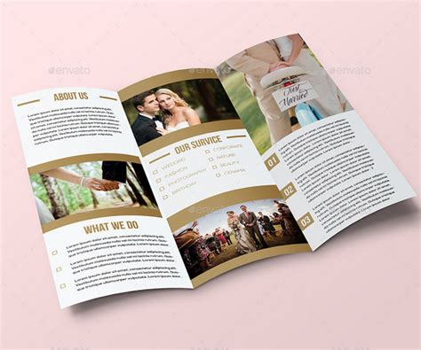 25 Wedding Program Brochure Templates Program Brochure Template