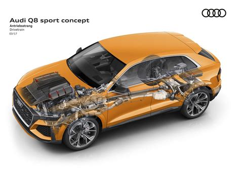 who makes the audi car the audi q8 sport is more potent and makes the q8 e