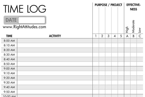 time management sheets template 7 best images of printable daily time log daily work log