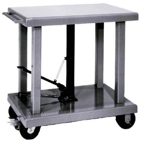 hydraulic lift table cart wesco hydraulic lift table 2 000 lb capacity model