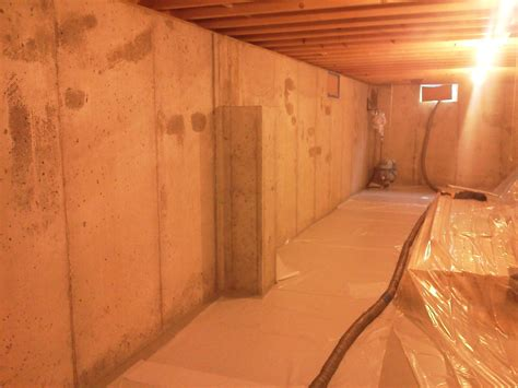 insulating poured concrete basement walls images