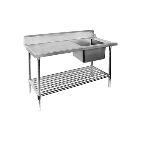 bench dishwasher 1800mm right inlet single sink dishwasher bench