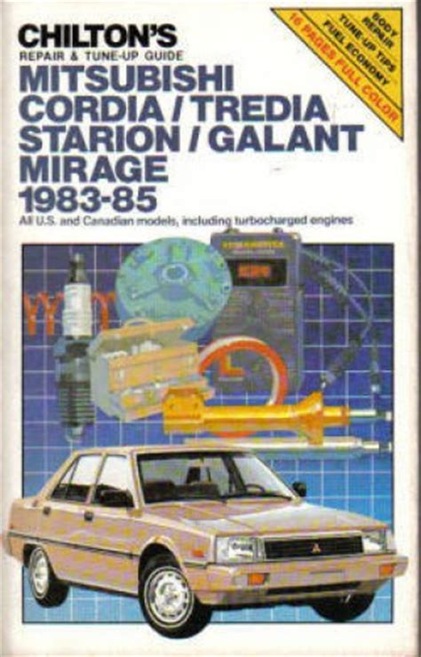how to fix cars 1985 mitsubishi truck transmission control used chilton mitsubishi 1983 1985 auto repair manual