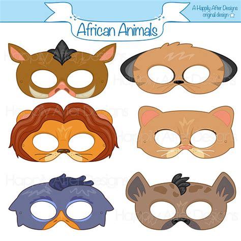 printable warthog mask african animals printable masks lion mask meerkat mask