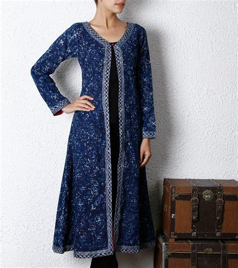 dress design with jacket indigo cotton long jacket style pinterest long