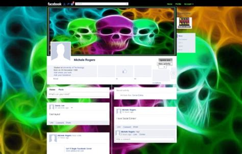 facebook background themes and skins 3 skulls facebook layouts 3 skulls facebook themes 3