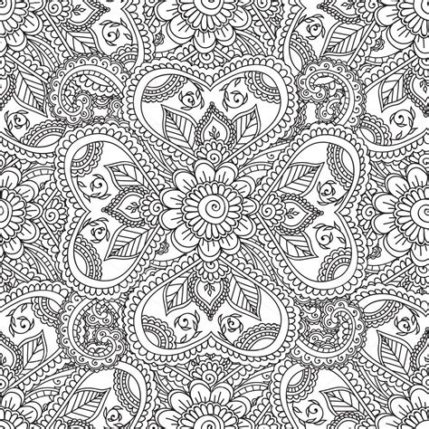 disegni astratti fiori disegni da colorare per adulti seamles henna mehndi