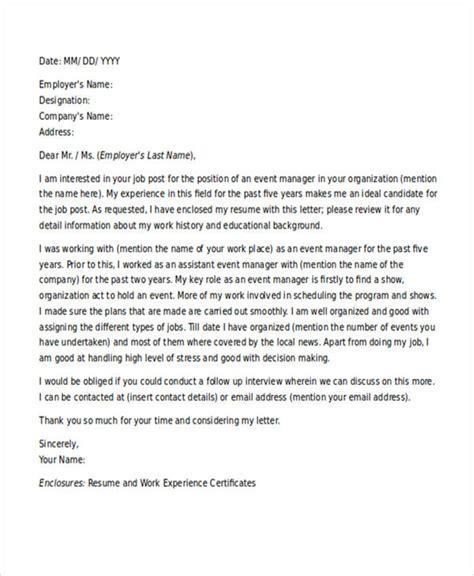 application letter for management internship 11 application letters for manager free word pdf