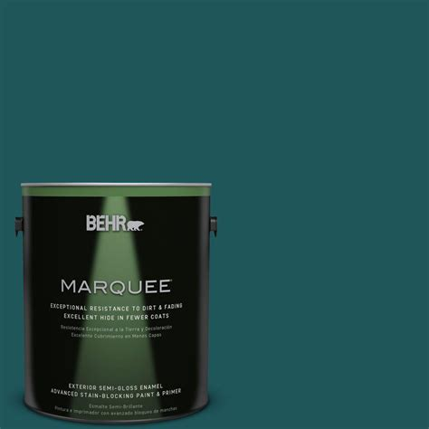 behr paint color teal behr marquee 1 gal ppf 56 terrace teal semi gloss enamel