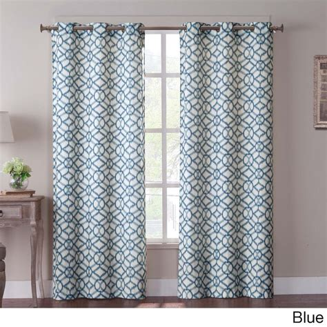 deals on curtains tanjiers ikat 84 inch grommet curtain panel pair