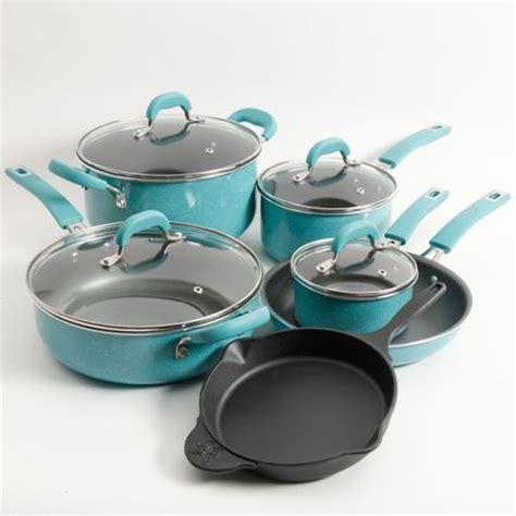 walmartpioneer ladys kitchenware the pioneer woman vintage speckle 10 piece cookware set