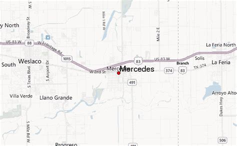 mercedes texas map mercedes texas location guide