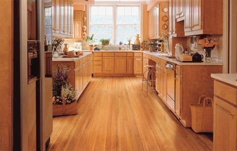 kitchens with wood floors some rustic modern day kitchen floor tips interior