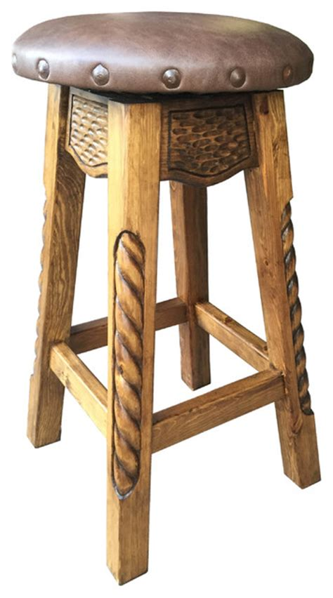southwestern bar stools rancho collection dixon swivel stool with leather view