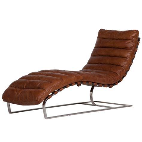 Chaise Longue Cuir by Chaise Longue Cuir Vintage Brun Et M 233 Tal Chrom 233