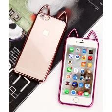 Iphone 6 Plus Soft 3d Cat Ears Sarung Casing 3d soft silicone w neck lanyard for iphone 6 plus 6s plus 5 5 inch