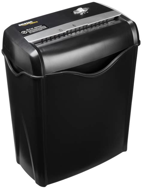 cross cut paper shredders amazonbasics 6 sheet cross cut paper and credit card