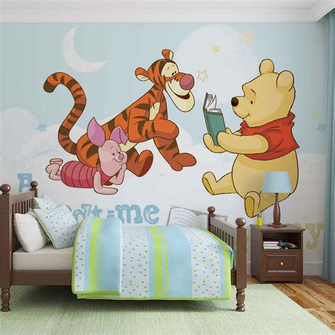 Wall Sticker Wall Stiker Wallsticker Dinding 152 Pooh Family disney winnie pooh piglet tigger wall paper mural buy at europosters