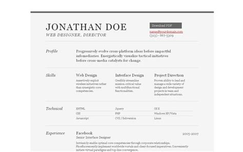 35 best online cv resume templates web graphic design