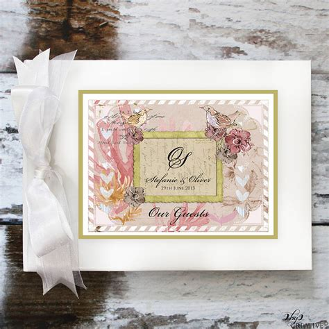 photo book themes ideas vintage wedding guest book by 2by2 creative
