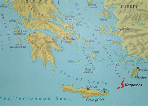 what is a map karpathos map