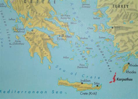 on map karpathos map