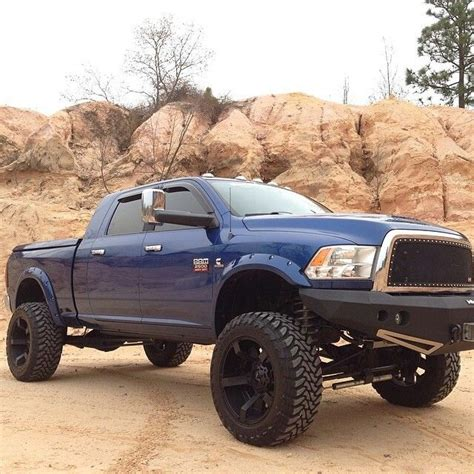 lifted ram truck blue lifted dodge ram truck my style