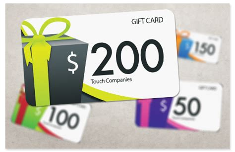 Touch Gift Card - gift cards touch companies