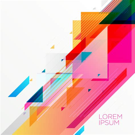 colorful design creative colorful abstract geometric background design