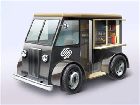 small food truck design mini website