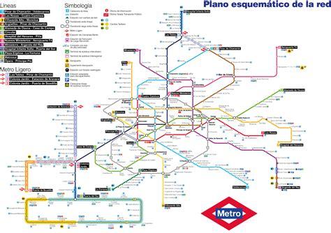 plano metro de madrid mapa do metro de madrid