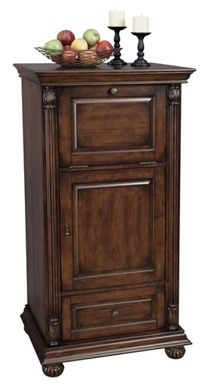 cognac cherry wine bar storage cabinet