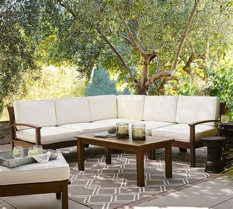 sectional patio furniture sale pottery barn outdoor furniture sale 30 sectionals sofas chaise lounge chairs and more