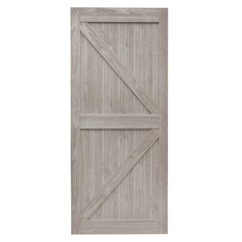 Truporte 36 in x 84 in grey mdf k frame interior barn door slab nl52 w9 gy1 36 the home depot