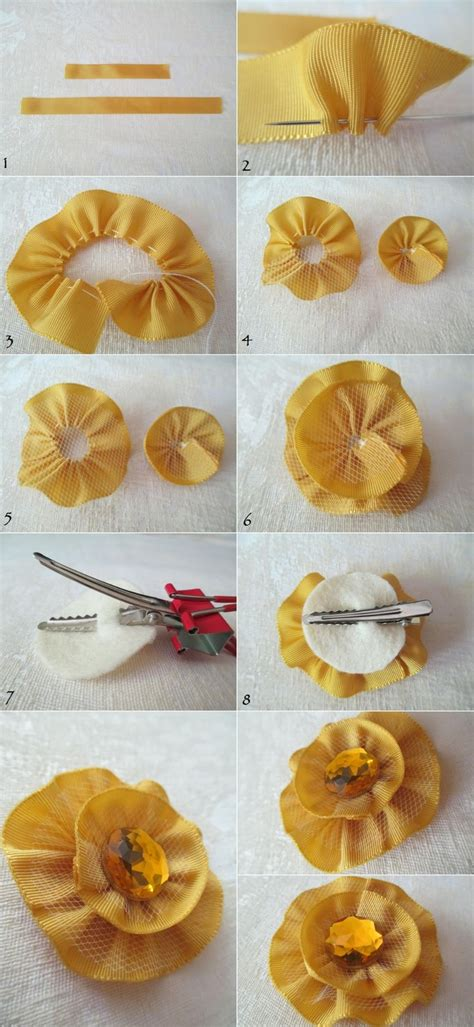 How To Make Handmade Hair Accessories - diy tutorial hair accessories how to make a ribbon