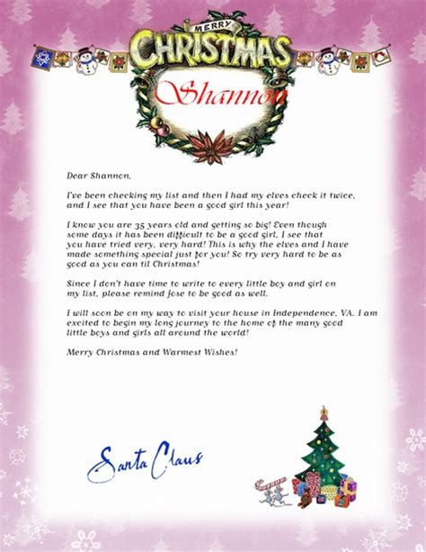 personalized letters from santa free free personalized letter from santa software