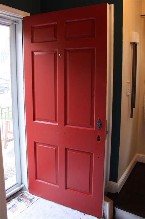 red door paint colors russet street reno our front door