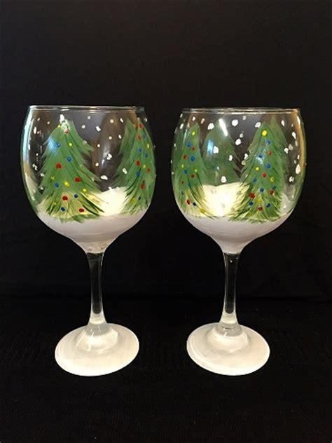 paint nite boston wine glasses paint nite trees wine glasses