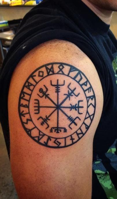 vegvisir tattoo vegv 237 sir viking nordic compass tattoos