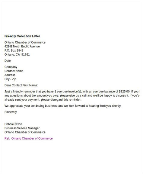 Business Letter Collection Pdf doc 459595 collection letter collectionlettergif 75