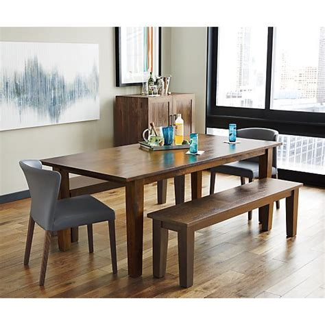crate and barrel dining room table basque honey 82 quot dining table crate and barrel grey