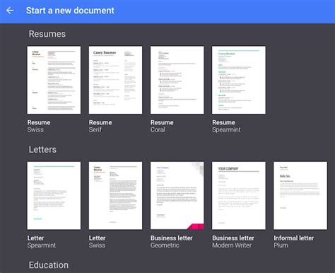 templates insights dictation google docs